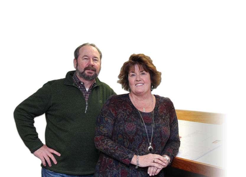 Northern Glass owners Linda Petrie Ian Hill